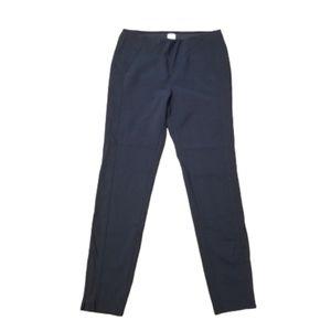 ECRU Black Pull On Zipper Hem Stretchy Pants
